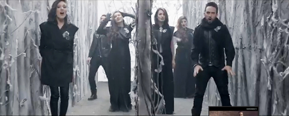 A scene from the music video of 'Don't Deny' by Geneology, Armenia's entry for Eurovision 2015