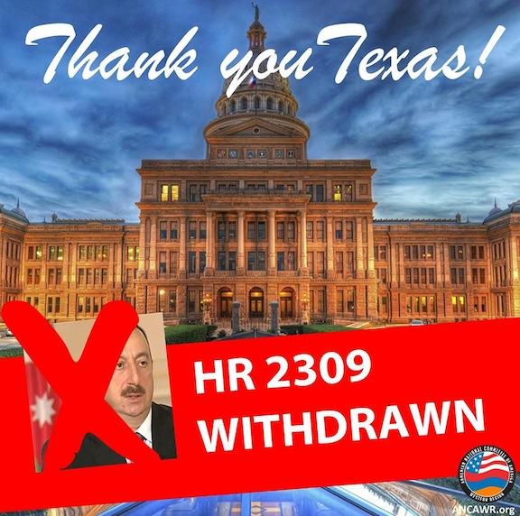 Texas State legislature rejected a pro-Azerbaijani resolution