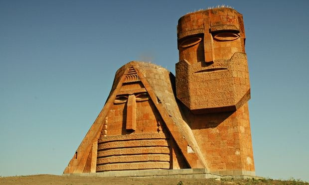 We Are Our Mountains monument north of Stepanakert, Nagorno-Karabakh (Artsakh) Republic