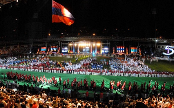 The opening ceremony of the Pan-Armenian Games in 2011 (Photo: armsport.am)