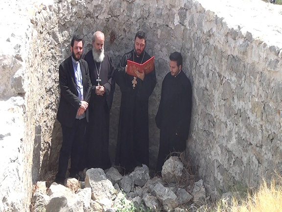 Members of the congregation from the Holy See of Cilicia perform a requiem mass at the ruins of the Catholicosate of Sis (Source: Armenian Church, Holy See of Cilicia/Facebook)