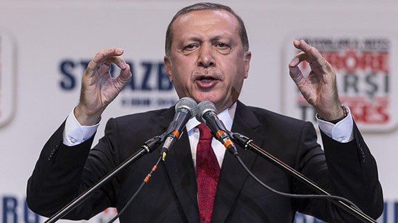 Turkish President Tayyip Erdogan (Source: AP Photo/Jean-Francois Badias)