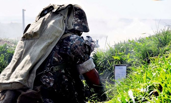 Artsakh soldiers in the front line (Source: Armenpress)