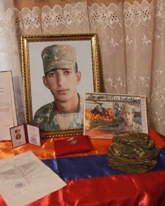 Kyaram Sloyan was decapitated by Azerbaijanis during last week's attacks (Photo by azatutyun,am)