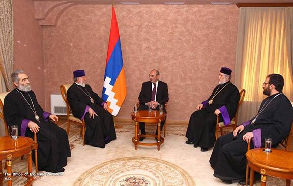 Artsakh President Bako Sahakian met with the pontiffs
