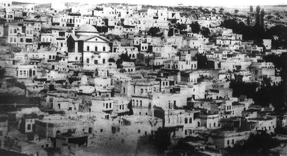 Efkere and its Armenian church years ago (Photo: Aris Nalci)