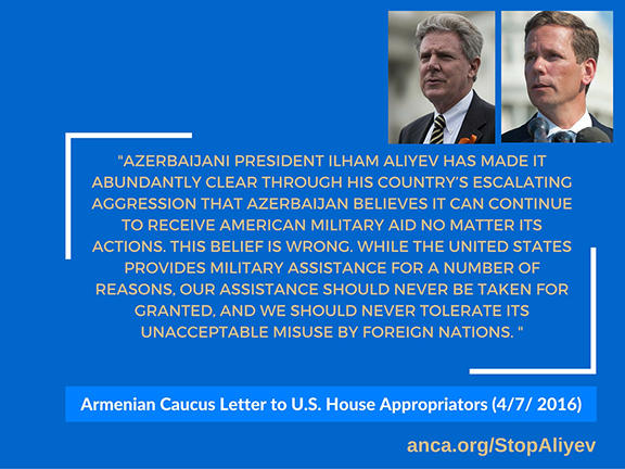 Quote from the Armenian Caucus Letter to President Obama Regarding Azerbaijani Aggression