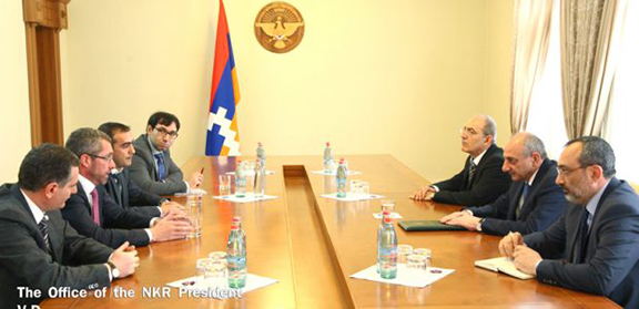 Karabakh President Bako Sahakyan receives MEP Frank Engel