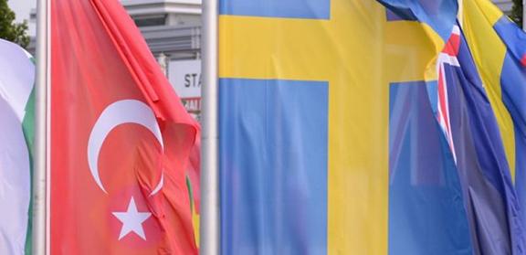 Turkish and Swedish Flag