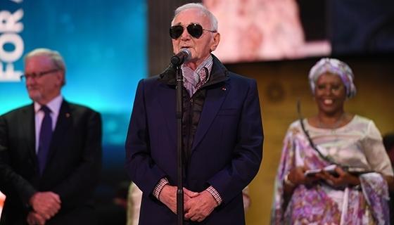 The legendary poet, composer and singer Charles Aznavour (Photo: Aurora Prize)