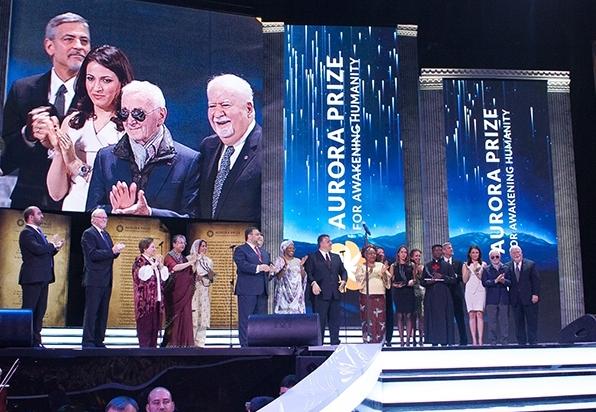 Aurora Prize Ceremony held on April 24, 2016 in Yerevan.