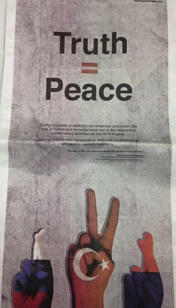 A newspaper advertisement
