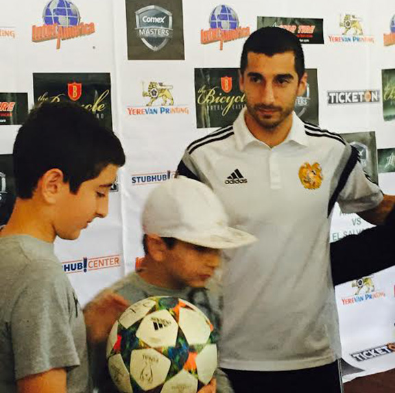 Mkhitaryan with fans