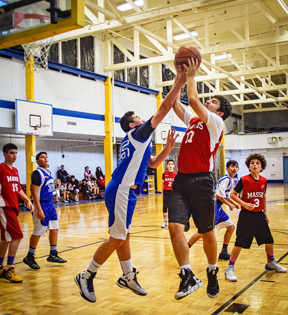Homenetmen Massis and Ararat chapter boys basketball game