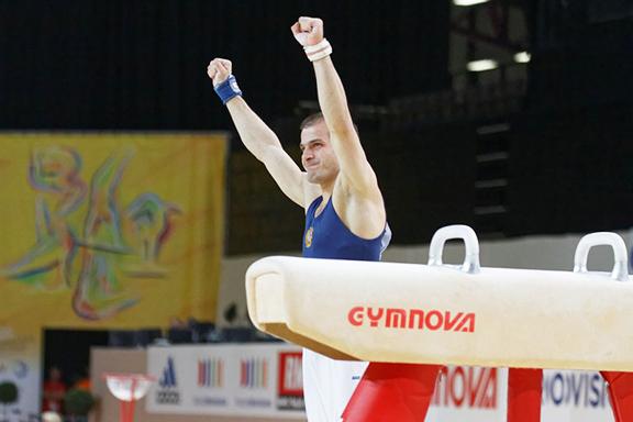 Harutyun Merdinyan wins gold medal in European Gymnastics Championships (Source: ArmRadio)