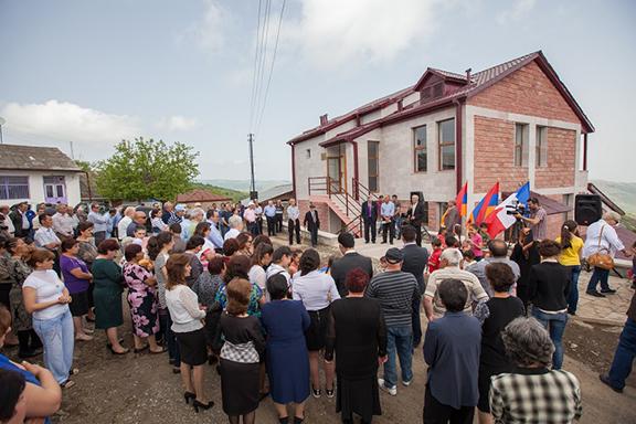 Newly built community center of Mushkapat, Artsakh.