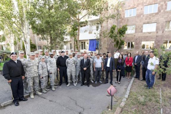 U.S. National Guard renovates elderly institute in Yerevan. (Source: ArmRadio)