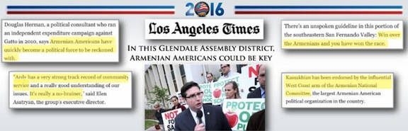 The Los Angeles Times published an article about the Armenian-American electorate