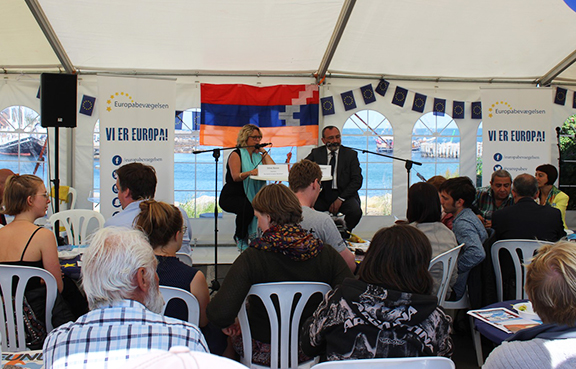 The Minister of Foreign Affairs of the Nagorno-Karabakh Republic Karen Mirzoyan, participated in the annual Peoples Meeting «Folkemødet» public forum in the Danish Island of Bornholm. (Photo: MFA of Nagorno-Karabakh)
