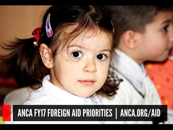 The ANCA has been advocating for inclusion of Armenian American priorities in the FY2017 foreign aid bill, set to be considered by the House Appropriations Subcommittee on Foreign Operations on Thursday, June 23