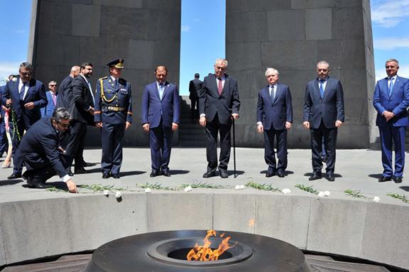 Czech Republic President, Milos Zeman, urges Parliament to discuss Armenian Genocide recognition. (Source: ArmRadio)