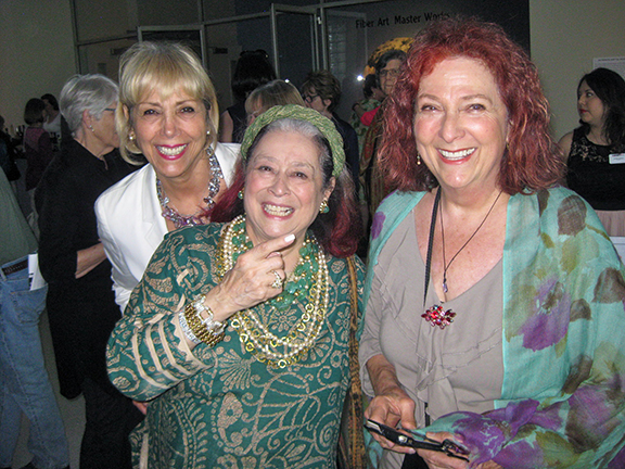 Exhibition opening at the Fresno Art Museum with Carole Boyajian Soldner, Joan Agajanian Quinn, and artist Nancy Youdelman.