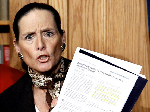 Former Republican Congresswoman Jean Schmidt faces a $2,500 fine for not reporting legal assistance provided by a pro-Turkish group. (Photo: Associated Press/Alex Brandon)