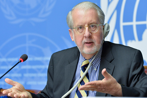 Chairperson of the Commission of Inquiry on Syria, Paulo Pinheiro (Source: United Nations)