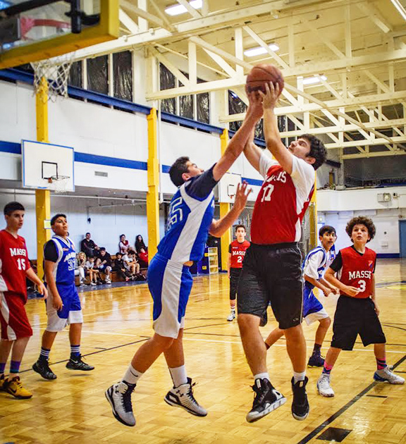A basketball match between the Homenetmen Ararat and Massis chapters