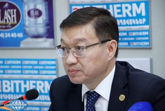 Ambassador of Kazakhstan to Armenia, Timur Urazayev (Photo: Armenpress)
