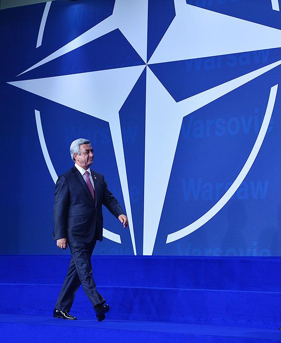 President Serzh Sarkisian at the NATO Summit in Warsaw this weekend