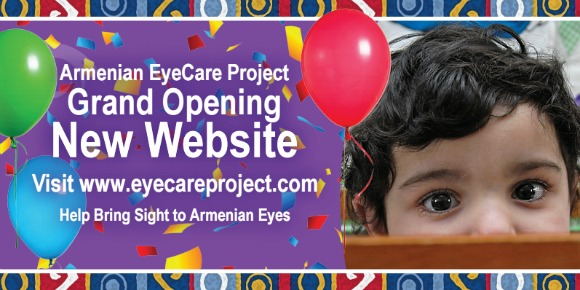 Armenian EyeCare Project  launches new website
