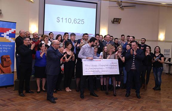 Australian-Armenian Community collects $112,175 during #ArtsakhStrong telethon on Monday, July 18. (Photo: armenia.com.au)