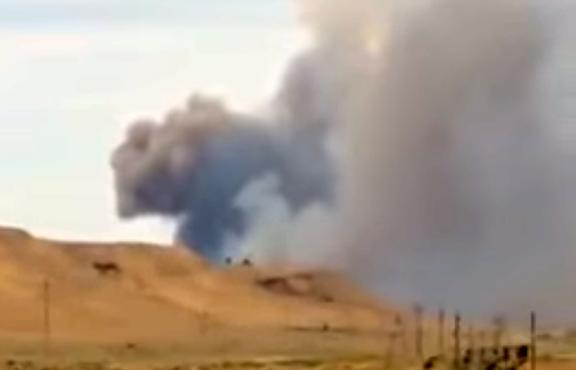 Explosion at an Arms Plant in Shirvan, Azerbaijan (Photo: YouTube screenshot, RFE/RL)