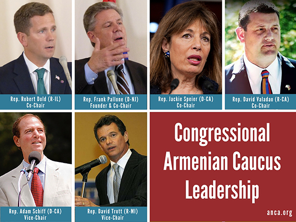 Members of the expanded leadership of the Congressional Armenian Caucus.