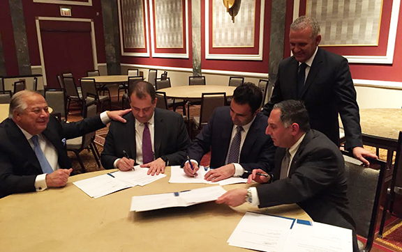 ANCA-ER, HALC, PSEKA, and Cyprus Federation of America sign a Memorandum of Understanding with the participation of Commissioner Photis Photiou, the Republic of Cyprus' Presidential Commissioner for Humanitarian Affairs and Overseas Cypriots.