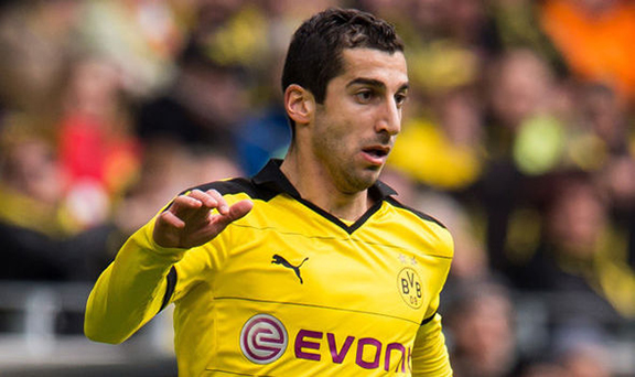 Henrikh Mkhitaryan will reportedly sign a £200k-a-week contract with Manchester United. (Photo: Getty Images)