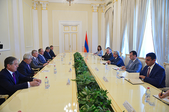 President Sarkisian met with the Collective Security Treaty Organization (CSTO) on July 4 in Yerevan (Photo: President.am)