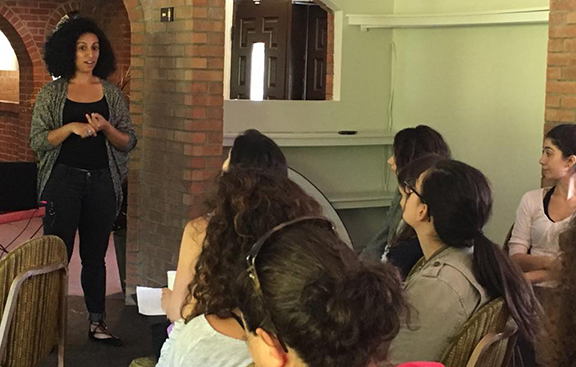 Talin Avakian during the workshop on film (Photo: Nanore Barsoumian)