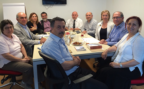 AMAA Executive Director/CEO, Zaven Khanjian, meets with the Camp Armen Construction and Rehabilitation Committee in Istanbul