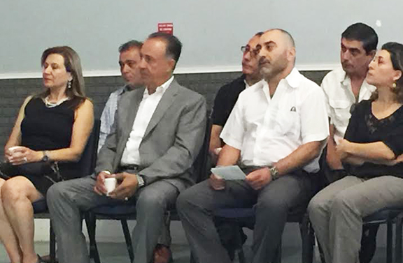 Some of the many community members who attended a memorial service for Syrian-Armenians