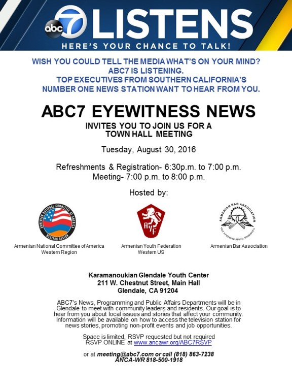 ABC7 Listens town hall is scheduled for August 30