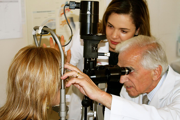 Anna Ter Zakarian, medical student at USC Keck School of Medicine, during a mission trip in Armenia with Armenian EyeCare Project alongside Dr. Roger Ohanesian.