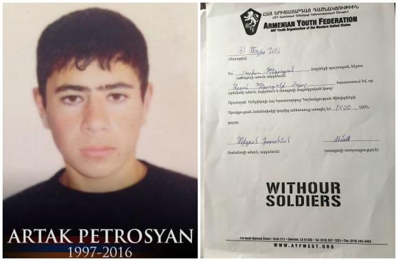 Artak Petrosyan, fallen soldier