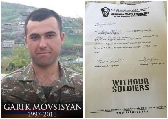 Garik Movsisyan, fallen soldier