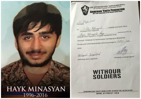 Hayk Minasyan, fallen soldier