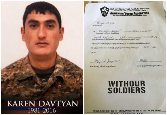 Karen Davtyan, fallen soldier