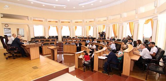 Nagorno-Karabakh Republic National Assembly at an extraordinary session on August 25, 2016 (Photo: Nagorno-Karabakh Official Press)