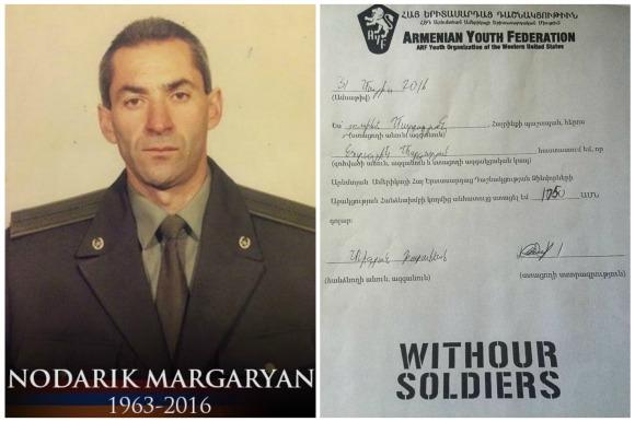 Nodarik Margaryan, fallen soldier