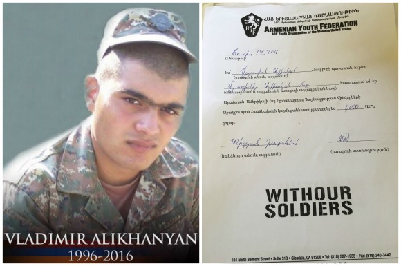 Vladimir Alikhanyan, fallen soldier